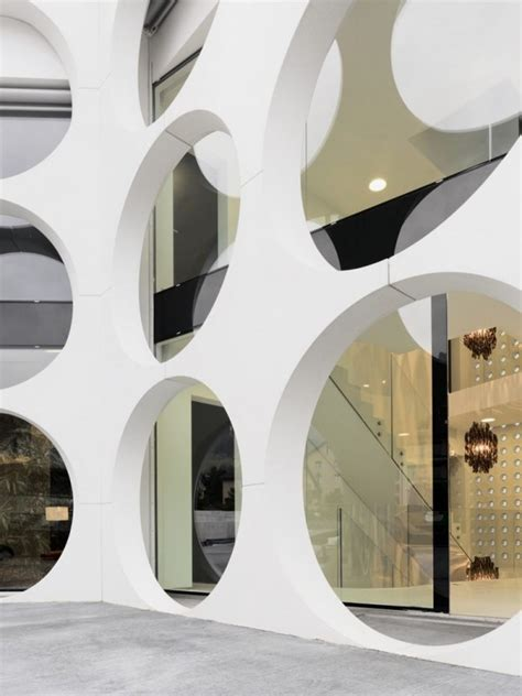 Circle Interior by Unique House With Circular Holes Pattern Facades O House
