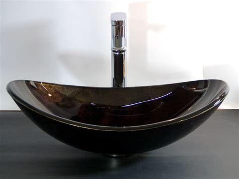 waschbecken oval aufsatz nero badshop aufsatz glas waschbecken schwarz braun oval