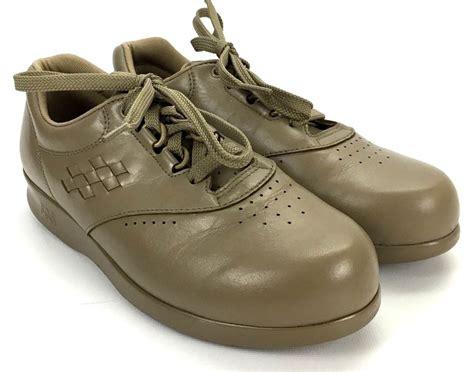 sas womens shoes sas free time womens size 6 5 m mocha leather sneakers