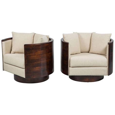 Atelier Wood Back Swivel Chairs At 1stdibs Back Swivel Chair