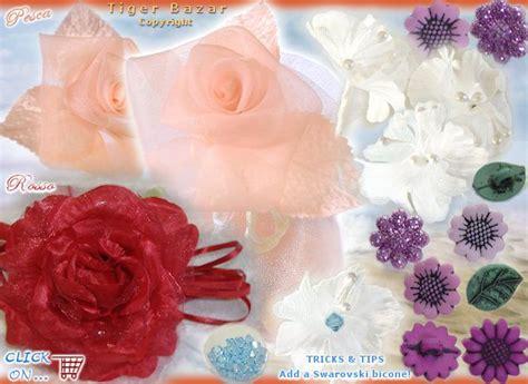 fiori di organza fai da te fiori bomboniere confetti fiorellini roselline