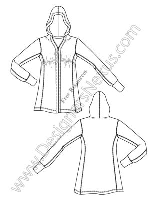 flat pattern not working in drawing v3 knit hoodie illustrator fashion technical drawing