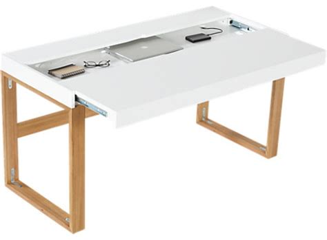 Modern Desk Table Torino Desk Table Modern Desks And Hutches By Cb2