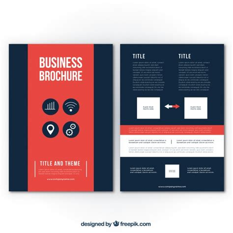 business brochure templates free business brochure template with details vector free