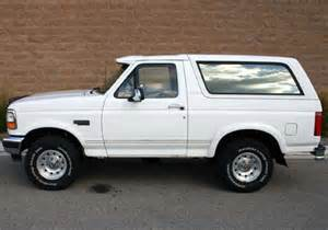 White Ford Bronco Oj Ten Best Used Bargain Suvs And One That Isn T