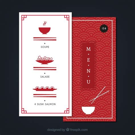 japanese menu template japanese menu template vector free