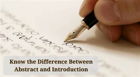 thesis difference between abstract and introduction top compared know what s best for you