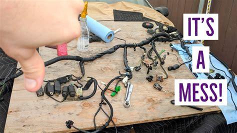 wiring harness restoration  engine bay prep   fc