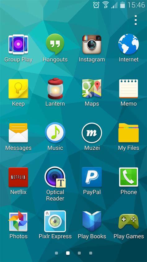 Galaxy S5 App Drawer samsung galaxy s5 app drawer
