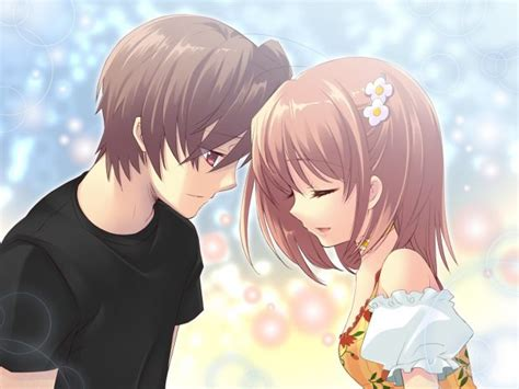 wallpaper anime couple cute hd cute anime couple backgrounds pixelstalk net