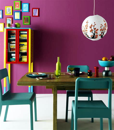 Colourful dining room with bright colors interior design ideas ofdesign