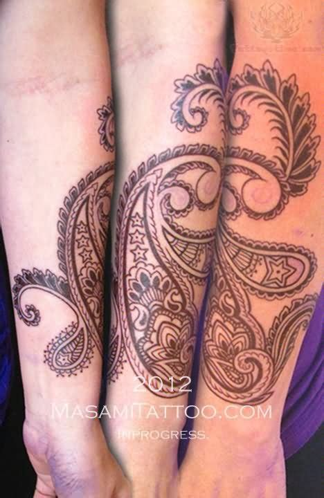 paisley tattoo sleeve paisley pattern tattoos on sleeve