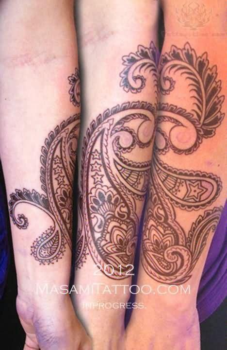 paisley pattern foot tattoo paisley pattern tattoos on sleeve
