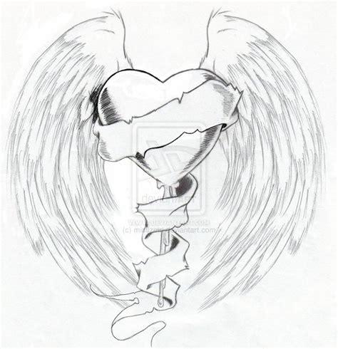 broken winged heart by mimizmd on deviantart