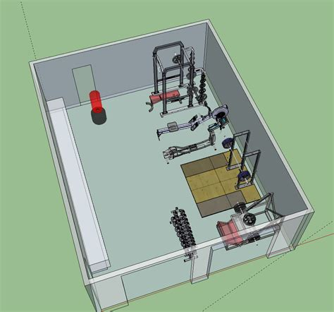 crossfit gym floor plan draft gym layout my dream home pinterest