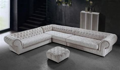 mid century white leather tufted sectional chaise lounge graceful tufted microfiber living room furniture