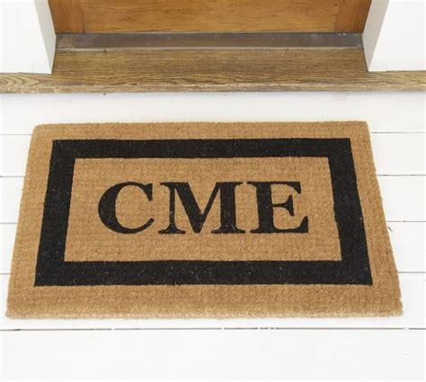 Monogrammed Doormats by Monogrammed Doormat Pottery Barn