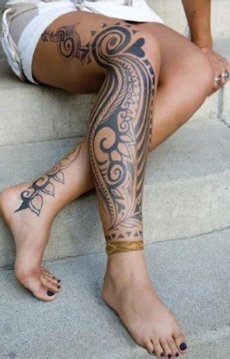 tribal thigh tattoos female tribal designs and meanings 35 pictures