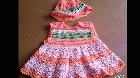 vestido en crochet para recin nacida vestidos faciles tejidos a crochet para recien nacido