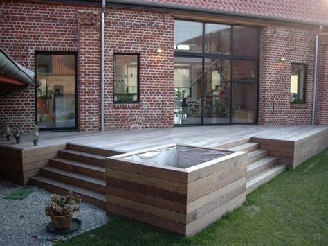 terrasse mit stufen terrasse mit holz pflanzk 228 sten und stufen haus