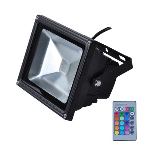Remote Controlled Outdoor Lighting Sale Ip65 Waterproof 10w Rgb Led Flood Light Outdoor Lighting Spotlights With Remote