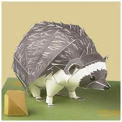 Paper Craft Four Toed Hedgehog south hedgehog paper crafts origami entertainment yamaha motor co ltd 3d