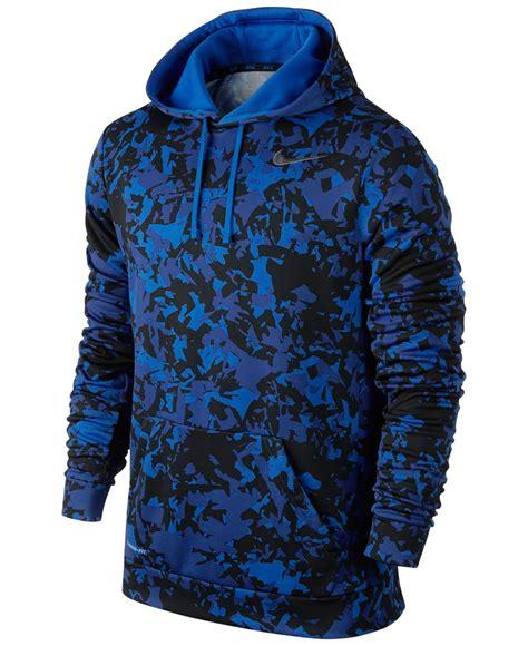 Original Hoodie Nike Ko Pullover Nike Royal Blue lyst nike ko splinter pullover hoodie in blue for
