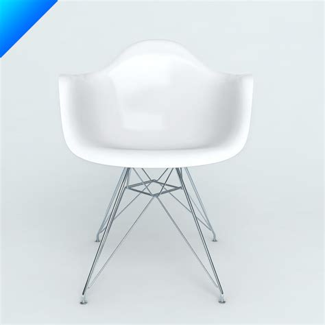 plastic armchairs 3d model plastic armchairs eames
