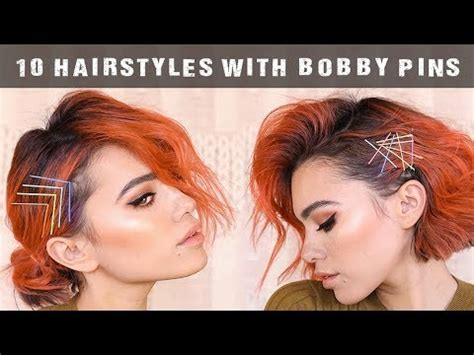 Easy Hairstyles Using Bobby Pins by 10 Easy Hairstyles Using Bobby Pins Tutorial