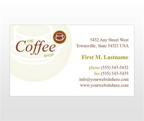shop business card template coffee shop business card templates mycreativeshop