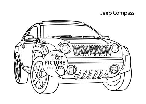 free coloring page jeep jeep wrangler coloring page for the kids coloring page jeep