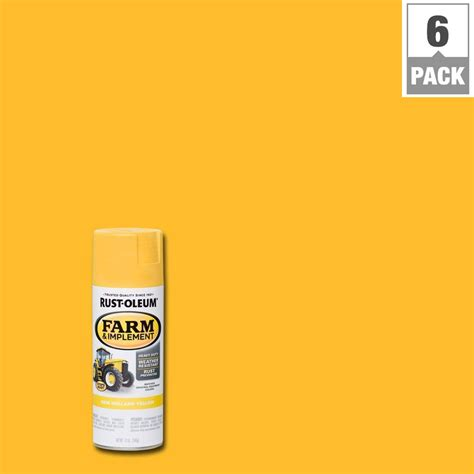 new paint rust oleum 12 oz farm and implement new yellow