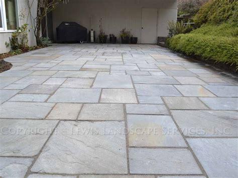 Cut Concrete Patio Lewis Landscape Services Bluestone Patios Portland
