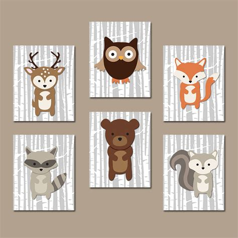 Woodland Animal Nursery Decor Item Details