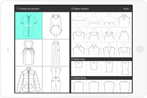 design clothes app fashion design app flat sketches for phone and tablet