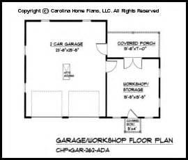 garage floor plans with workshop country style garage workshop plan gar 262 ad sq ft