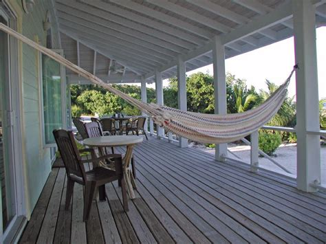 hammock on porch bahamas rental house beach lubbers provides you with