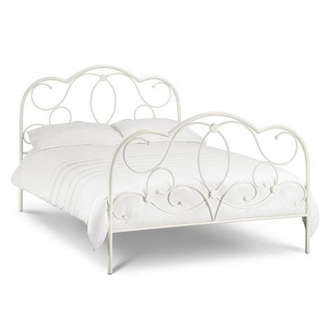 White Metal Bed Frame King Beautiful White Finish High End Metal Bed Frame King Size 5ft