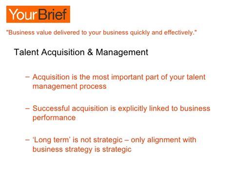 effective  efficient talent acquisition management