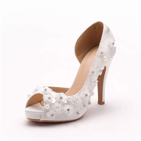 free shipping 2015 new handmade beaded wedding shoes