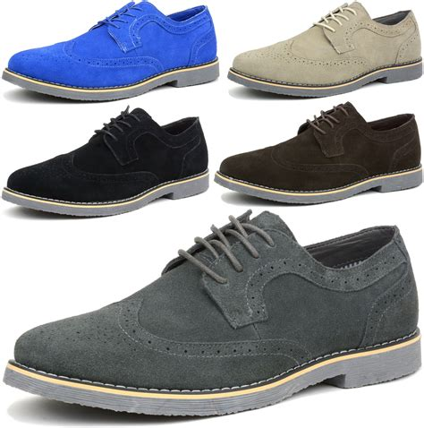 dress shoes alpine swiss beau mens dress shoes genuine suede wing tip