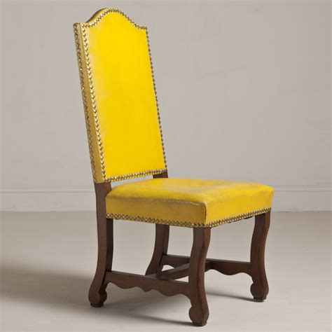 Yellow Chairs Upholstered Design Ideas Yellow Upholstered Dining Chair