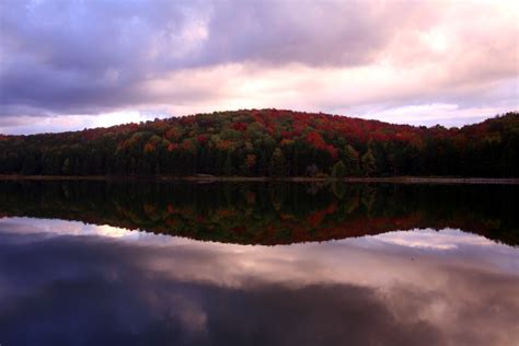 Spruce Knob Lake Wv by Spruce Knob Wv Fall Lake Reflections Forest Foliage