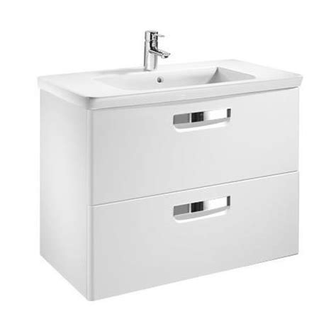 Basin Drawer Unit by Roca The Gap Unik Wall Hung 2 Drawer Vanity Unit With
