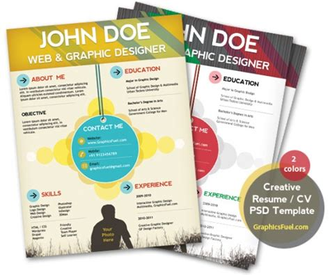 creative curriculum vitae psd 15 free resume photoshop templates for enhancing the