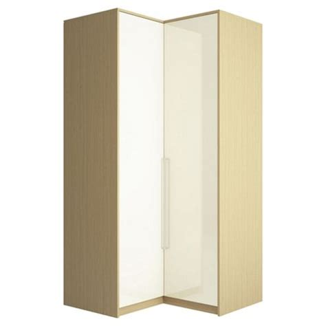Oak Corner Wardrobe buy adria oak corner wardrobe with ivory gloss doors from our wardrobe range tesco