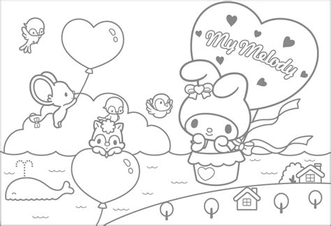 my melody coloring pages my melody coloring pages fantasy coloring pages