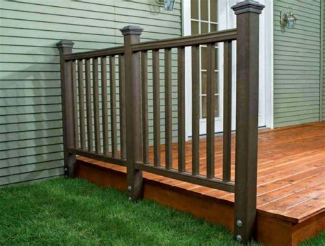 Composite Balusters For Decks Brown Composite Deck Railing Composite Deck Railing