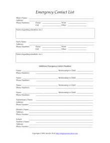 Parent Contact Form Template by Reasons To Keep Your Child S Emergency Contact Form Up To
