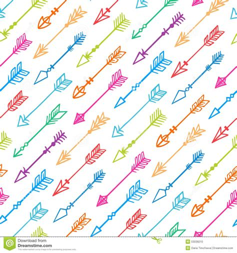 colorful arrow wallpaper seamless background with colorful arrows 2 stock vector